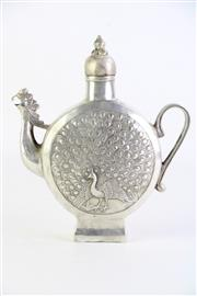 Sale 8860V - Lot 71 - Silvered Chinese Teapot H:21cm