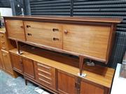 Sale 8930 - Lot 1040 - Younger Teak Sideboard with 3 Central Drawers and Concealed Handles
