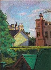 Sale 9013 - Lot 582 - Tempe Manning (1896 - 1960) - View Over Rooftops 33 x 24 cm (frame: 49 x 41 x 2 cm)