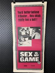 Sale 9003P - Lot 60 - Vintage Movie Poster - Sex is my Game