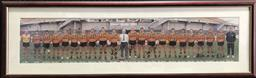 Sale 9112T - Lot 13 - Framed Balm,ain Tigers team photo 1989 with some signatures (40 x 116cm)