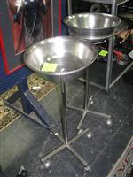 Sale 7926A - Lot 1649 - Pair of stainless jardinieres