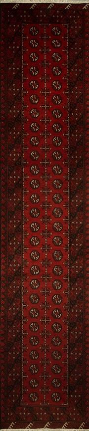 Sale 8439C - Lot 20 - Afghan Turkamn Runner 380cm x 80cm
