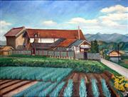 Sale 8544A - Lot 5011 - Japanese School - Ploughed Fields 45 x 59cm