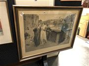 Sale 8865 - Lot 2048 - Henry Holiday - Italian Scene, engraving, SLL
