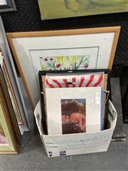 Sale 8888 - Lot 2066 - Box of Assorted Paintings and Works on Paper