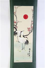 Sale 8944T - Lot 632 - Chinese bird themed scroll