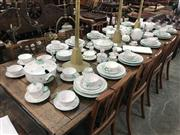 Sale 9014 - Lot 1031 - An Austrian Faience Dinner Service with Floral Sprig pattern comprising tea and coffee pots, tureens, dinner plates, soup bowls, egg...