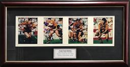 Sale 9112T - Lot 14 - Framed Tiger Tiger Series signed photographs with Paul Sironen Wayne Pearce, Steve Roach and Ben Elias (45 x 90cm)