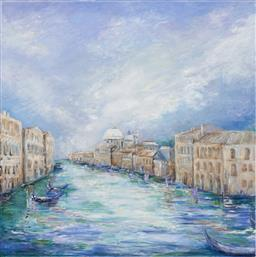 Sale 9187JM - Lot 5071 - WENDY LE GRANGE Venice Reflections oil on canvas 120 x 120 cm inscribed and titled verso