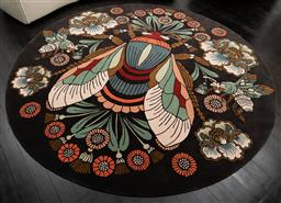 Sale 9248H - Lot 36 - The Bees Knees  Rug, by House of Heras  From Designer Rugs, 100% NZ Wool and bamboo hand tufted. 250cm diameter RRP $4690