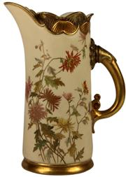 Sale 8065 - Lot 78 - Royal Worcester Blush Ivory Jug