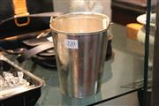 Sale 8314A - Lot 8 - Chinese Silver Ice Bucket by Zee Sung