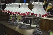 Sale 8312 - Lot 1099 - Set of Four Fabric Shade Table Lamps