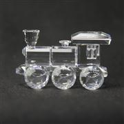 Sale 8412B - Lot 45 - Swarovski Crystal Train Engine with Box - Length 6.3cm