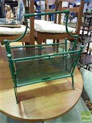 Sale 8532 - Lot 1068 - Metal & Glass Magazine Rack