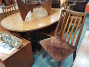 Sale 8872 - Lot 1070 - G-Plan Extension Dining Table & Six Chairs