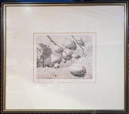 Sale 9155 - Lot 2008 - Warwick Fuller Rocks etching and aquatint ed. AP, 61 x 66cm, signed lower right
