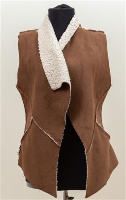 Sale 9165H - Lot 97 - A BLVD woolly vest in cappucino fabric, Size S