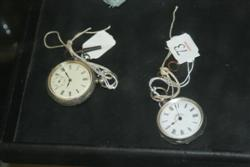 Sale 7917 - Lot 73 - Silver Ladies Fob Watch & Another with Keys