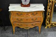 Sale 8129 - Lot 1002 - Marble Top Commode w Metal mounts