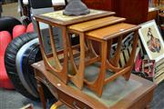 Sale 8147 - Lot 1070 - G Plan Nest of tables with Tile Top