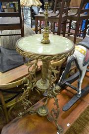Sale 8161 - Lot 1025 - Metal And Resin Ornate Side Table