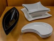 Sale 8310A - Lot 130 - Contemporary ceramic servery wares by Hutschenreuther etc, largest L 54cm