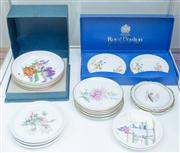 Sale 8470H - Lot 343 - A quantity of pin dishes including Wedgwood, Doulton etc, mainly floral, some boxed