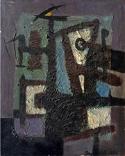 Sale 8544A - Lot 5013 - Daryl Hill (1930 - 1999) - Abstract 1956 38.5 x 30.5cm
