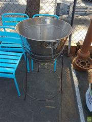 Sale 8566 - Lot 1439 - Ice Bucket on Stand