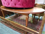Sale 8570 - Lot 1056 - Timber Extension Dining Table with Butterfly Leaf