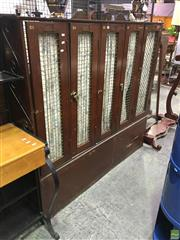 Sale 8625 - Lot 1002 - Vintage Timber Bay of Five Lockers -