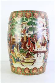 Sale 8952 - Lot 42 - Large Chinese ceramic drum stool (H46cm Dia28cm)