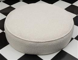 Sale 9248H - Lot 174 - A Globe West Vittoria Retreat round boucle ottoman (sits in eclipse form under coffee table. RRP $995 98 x 27cm