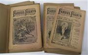 Sale 8125 - Lot 40 - Police Budget, Famous Fights - a partial set of ten volume is ten folders from the bare-knuckle days.
