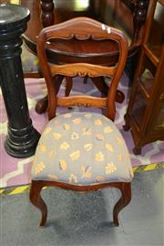 Sale 8093 - Lot 1122 - Set of 4 Timber Ladder Back Dining Chairs