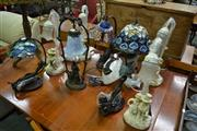 Sale 8127 - Lot 887 - Set of 4 Tulip Shade Table Lamps & 5 Others (9)