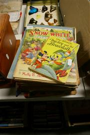 Sale 8362 - Lot 2381 - Collection of Childrens books incl. Walt Disneys Wonder Book; High Jinks hand coloured; Mary goes to Wonderland; etc