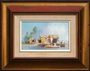 Sale 8434A - Lot 5007 - Robert Pope (1939 - ) - The Daisy Bates Landing (Loxton, S.A) 14.5 x 24.5cm