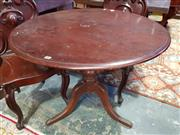 Sale 8792 - Lot 1094A - A late C19th cedar occasional table, with circular top and turned pedestal, H 72 x 90cm in diameter