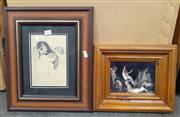 Sale 9065 - Lot 2040 - Framed Norman Lindsay Print And Another