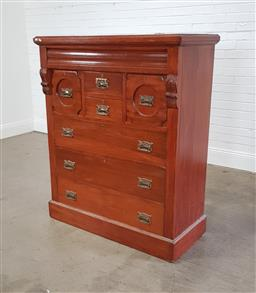 Sale 9255 - Lot 1320 - Victorian chest of 7 drawers