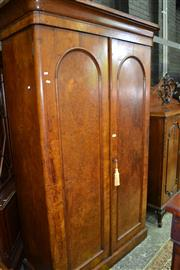 Sale 8093 - Lot 1727 - Victorian Pollard & Figured Oak Wardrobe (key in office)