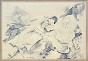 Sale 8466A - Lot 5082 - Anne Hall (1945 - ) - Punch... 69.5 x 101cm (sheet size)