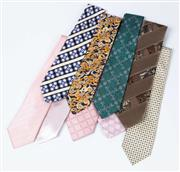 Sale 8550F - Lot 220 - A group of assorted ties including designer brands and silk examples.