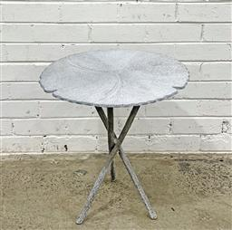 Sale 9102 - Lot 1267 - Cast Alloy Lilypad form Occasional Table with lily pad stem effect legs (h56 x d51cm)