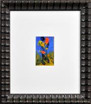 Sale 8408 - Lot 515 - Kevin Charles (Pro) Hart (1928 - 2006) - Still Life - Floral 11 x 7cm