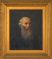 Sale 8459 - Lot 578 - C19th School (XIX) - Portrait of Elderly Gentleman 60 x 49cm