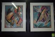 Sale 8506 - Lot 2075 - John Petrie (2 works) Untitled, 1987, pastel on paper, each frame size 90 x 76cm and signed lower right